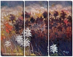 End of Season Landscape Wrapped Canvas Giclee Wall Art, Set of 3
