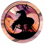 End of the Trail Absorbent Round Beverage Coasters, Set of 12