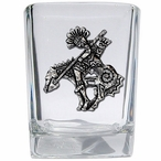 End of the Trail Pewter Accent Shot Glasses, Set of 4