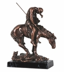 End of The Trail Statue - Antique Bronze Finish