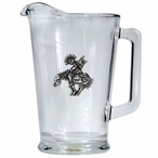 End of Trail Glass Pitcher with Pewter Accent