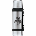 End of Trail Stainless Steel Thermos with Pewter Accent