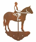 English Horse Rider Double Metal Wall Hook