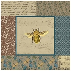English Manor Colorful Bee Vintage Style Metal Sign
