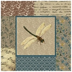 English Manor Colorful Dragonfly Vintage Style Metal Sign