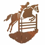 Equestrian Show Jumping Double Metal Wall Hook