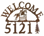 Equestrian Show Jumping Metal Address Welcome Sign