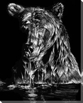 Evening Ablutions Wet Bear Wrapped Canvas Giclee Print Wall Art