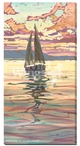 Evening Sail Sailboat Wrapped Canvas Giclee Print Wall Art