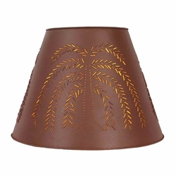 extra large willow tree punched tin lamp shade red lamp accessories. Black Bedroom Furniture Sets. Home Design Ideas