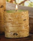 Extra Small Birch Wood All Wax Pillar Candles, Set of 6