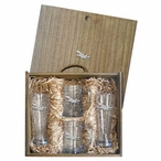 F-18 Hornet Plane Pilsner Glasses & Beer Mugs Box Set with Pewter