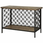 Fairmont Metal and Wood Console Table