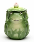 Fairy Frog Covered Ceramic Jar