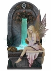 Fairy Wishing Well LED Light Fountain Sculpture by Selina Fenech