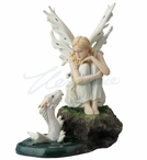 Fairy with Baby Water Dragon Sculpture