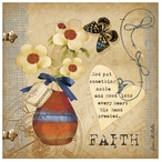 Faith Absorbent Beverage Coasters by Grace Pullen, Set of 12