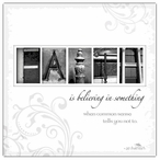 Faith Absorbent Beverage Coasters by Jan Shade Beach, Set of 12