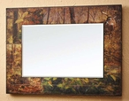 Fall Whitetail Deer Scenic Wall Mirror with Wood Frame