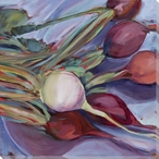 Farmer's Market Multi Colored Radishes Wrapped Canvas Giclee Art Print