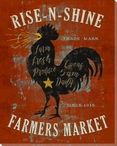 Farmhouse Rooster Rise N Shine Wrapped Canvas Giclee Print Wall Art