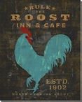 Farmhouse Rooster Rule The Roost Wrapped Canvas Giclee Print Wall Art