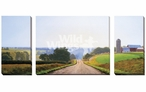 Farmland Morning Wrapped Canvas Giclee Print Wall Art, Set of 3