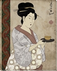 Female Asian Portrait Wrapped Canvas Giclee Print Wall Art