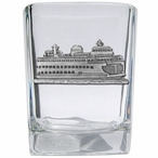 Ferry Boat Pewter Accent Shot Glasses, Set of 4