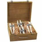 Ferry Boat Pilsner Glasses & Beer Mugs Box Set with Pewter Accents