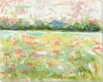 Field of Flowers Wrapped Canvas Giclee Art Print Wall Art
