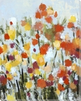 Fields of Vermillion Flowers Wrapped Canvas Giclee Print Wall Art