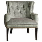Fifth Ave Textured Silver Birch Wood Chair with Nail Head Trim