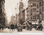 Fifth Avenue and 42nd Street N.Y. Cityscape Wrapped Canvas Print