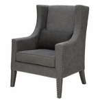 Fifth Avenue Wing Wood Chair with Nail Head Trim