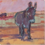 Filly Donkey Wrapped Canvas Giclee Print Wall Art