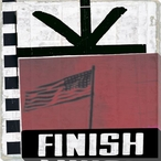 """Film Reel """"Finish"""" Wrapped Canvas Giclee Print Wall Art"""