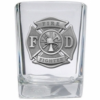 Firefighter Pewter Accent Shot Glasses, Set of 4
