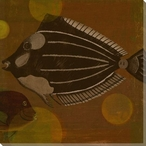 Fish Bubbles Two Wrapped Canvas Giclee Print Wall Art