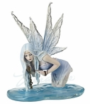 Fishing For Riddles Fairy Princess in a Pool of Water Sculpture