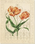 Flaming Tulip Flowers Wrapped Canvas Giclee Print Wall Art