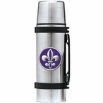 Fleur De Lis #2 Purple Stainless Steel Thermos with Pewter Accent