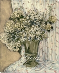 Fleur Vase of Flowers Wrapped Canvas Giclee Print Wall Art
