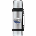 Float Plane Blue Stainless Steel Thermos with Pewter Accent