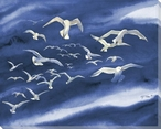 Flock of Birds 2 Wrapped Canvas Giclee Print Wall Art