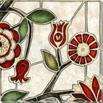 Floral Mosaic II Wrapped Canvas Giclee Print Wall Art