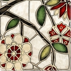 Floral Mosaic IV Wrapped Canvas Giclee Print Wall Art