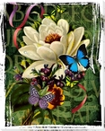 Floral Print I Wrapped Canvas Giclee Print Wall Art