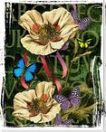 Floral Print II Wrapped Canvas Giclee Print Wall Art