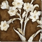 Floral Quartet III Wrapped Canvas Giclee Print Wall Art